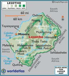 Lesotho officially the Kingdom of Lesotho, is a landlocked country and enclave, completely surrounded by its only neighbouring country, South Africa. It is just over km² in size and has a population slightly over two million. Its capital and large Leaving Home, Cultural Experience, Africa Travel, Africa Map, Wish You Are Here, African Culture, Travel Abroad, South Africa, How To Memorize Things