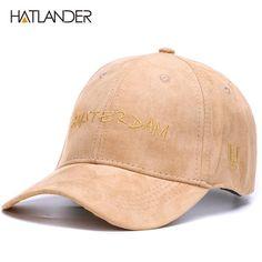 4a34ffb5857 HATLANDER Fashion suede baseball caps for women letter snapback outdoor hats  sports gorras casuqette casual cap hat mens.