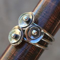rings. I think I might try to solder something similar onto a copper bangle or earrings