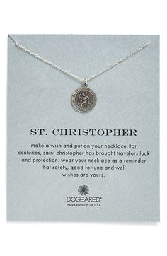Travels with saint christopher and a discount from get back supply dogeared st christopher pendant necklace available at nordstrom mozeypictures Choice Image