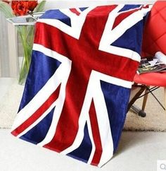 Fade-Resistant Large Quality National Flag Bath/Beach Towels 6 Designs
