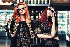 Fashion Twins Go to the Supermarket / Search The Style, ELLE Korea Image Fashion, Luxury Marketing, Korean Actresses, Korean Model, Style Icons, Editorial Fashion, Style Me, Halloween Face Makeup, Punk