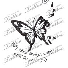 Marketplace Tattoo Butterfly with broken wings #9152 | CreateMyTattoo.com