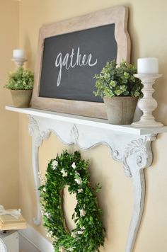 This easy to follow and simple DIY tutorial will show you how to make a farmhouse style shelf using a vintage dresser harp.