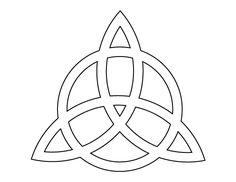 Triquetra pattern. Use the printable outline for crafts, creating stencils, scrapbooking, and more. Free PDF template to download and print at http://patternuniverse.com/download/triquetra-pattern/