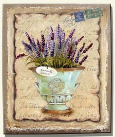 Decoupage Vintage, Decoupage Paper, Flower Images, Flower Pictures, Vintage Prints, Vintage Art, Etiquette Vintage, Mod Podge Crafts, Lavender Cottage