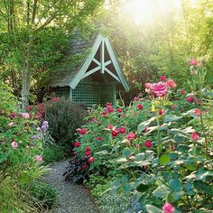 Go Informal:   Cottage gardens don't look designed. In fact, they're usually exuberant, free-flowering, and sometimes even unrestrained.