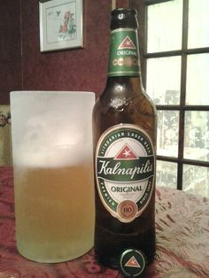 Kalnapilis beer - from Lithuania.  Light and refreshing, I like it.