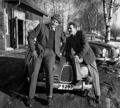 Erik Carlsson - famous Saab driver –with teammate Carl-Magnus Skogh.