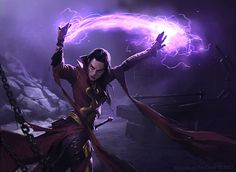 Arcane mage casting a spell