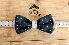 ‪#‎bowtie‬ Blue and Pearl Gray Polka Dot _ Silk Jacquard ---> For info and enquiries contact our crew at: info@gwpstyle.com