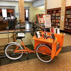 Brookline Public Library, new BookBike. Brookline Library Instagram