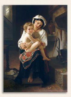 William Adolphe Bouguereau, Çocuğuna Bakan Genç Anne, Tarih: 1871
