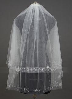 Wedding Veils - $18.79 - Two-tier Fingertip Bridal Veils With Cut Edge (006034429) http://jjshouse.com/Two-Tier-Fingertip-Bridal-Veils-With-Cut-Edge-006034429-g34429?ver=1