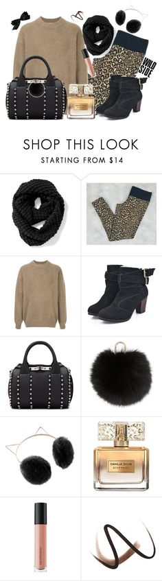 """cheetah leggings"" by pocketfullofglitter ❤ liked on Polyvore featuring Victoria's Secret, H Beauty&Youth, Alexander Wang, Yves Salomon, LC Lauren Conrad, Givenchy, Bare Escentuals, Burberry and Chanel"