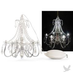 Crystal chandeliers lit with battery operated candles hanging mini chandeliers led with battery pack aloadofball Choice Image