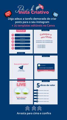Instagram Design, Instagram Feed, Marketing Digital, Motion Poster, Social Media, Lettering, Canvas, Instagram Templates, Tips