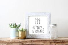 Printable: Happiness is Homemade | Peek Inside