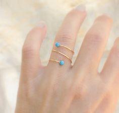 Goldring  14 k gold gefüllt dünnen Ring mit winzigen von JulJewelry