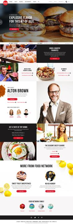 Food Network Redesign Concept by Alex Miller