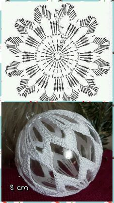 Best 12 Crochet Christmas Bauble Doily – Page 517562182178910164 – SkillOfKing. Christmas Tree Hooks, Crochet Christmas Decorations, Christmas Crochet Patterns, Crochet Christmas Ornaments, Crochet Snowflakes, Christmas Baubles, Christmas Crafts, Quilling Christmas, Christmas Christmas