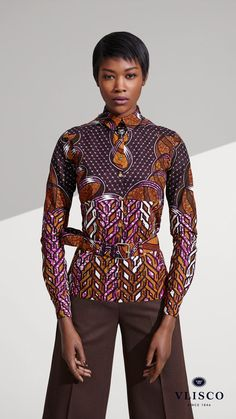 THE CLASSIC BLOUSE ~African fashion, Ankara, kitenge, African women dresses, African prints, African men's fashion, Nigerian style, Ghanaian fashion ~DKK