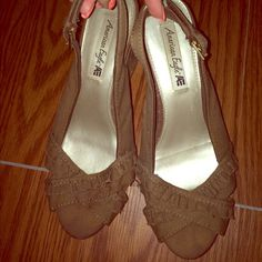 Brown wedges ❤️ Very cute brown wedges from American eagle. Don't wear them anymore. I'm too tall with them on  American Eagle Outfitters Shoes Wedges