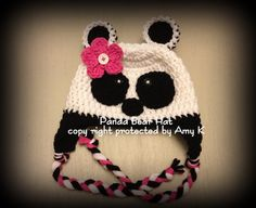 Hey, I found this really awesome Etsy listing at https://www.etsy.com/listing/125082938/baby-girl-panda-hats-crochet-baby-hats