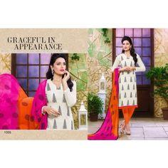 Printed Design cotton churidar material by Purasawalkam ThambiShopping. Thambishopping is Best Online shopping in Chennai,Purasawalkam,India. for women clothing at ThambiShopping.com