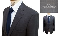 Actual customer's suit. Beautiful charcoal business suit.