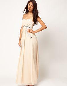 Enlarge Little Mistress Embellished Trim Bustier Maxi Dress