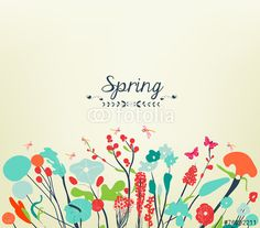 "Download the royalty-free vector ""Spring postcard vintage"" designed by ngocdai86 at the lowest price on Fotolia.com. Browse our cheap image bank online to find the perfect stock vector for your marketing projects!"