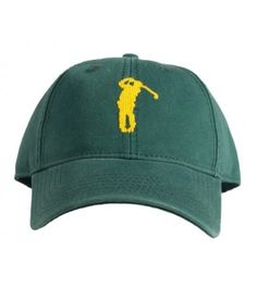 Golf on Tee Green Hat aa832b596e7