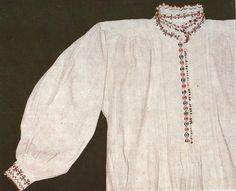 Camasa barbateasca din Tulcea, Dobrogea Folk Embroidery, Traditional Dresses, Costumes, Mens Tops, Clothes, Ethnic, Dreams, Blouse, Fashion