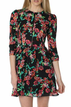 I'd wear this floral dress as a shirt over leggings......