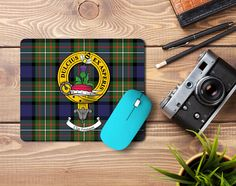 Rubber mousemat with Ferguson clan crest and tartan - only from ScotClans