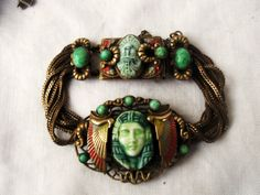 A Rare & Original Art Deco Max Neiger Brothers Egyptian Revival Bracelet