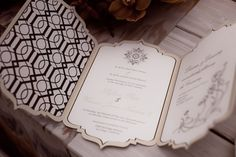 Luxe Morrocan themed wedding invitation