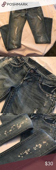 💥💥New Vanilla Star Jeans🎉🎉 🎉🎉Distressed cute new jeans never worn💜💜 Vanilla Star Jeans Skinny