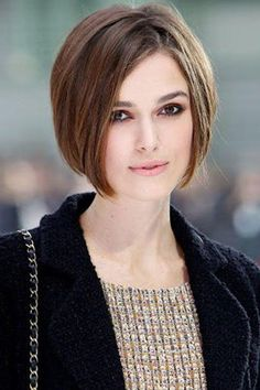 Art Keira Knightley Short Stacked Hairstyles Short Hairstyles For Women hair Stacked Hairstyles, Oval Face Hairstyles, Wavy Bob Hairstyles, Short Hairstyles For Women, Beautiful Hairstyles, Short Haircuts, Woman Hairstyles, Hairstyles Pictures, Medium Hairstyles
