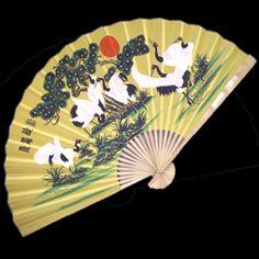 Wall Fan 60 Inches Cranes for Feng Shui  Price: $24.99 Ninja Gear, Large Fan, Wall Fans, Hand Fan, Crane, Feng Shui, Hand Painted