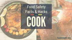 """Here's why food safety is about more than what """"meats"""" the eye. You can't tell if meat is cooked properly just by how it looks, so use a food thermometer to check that it's cooked to the minimum safe temperature every time."""