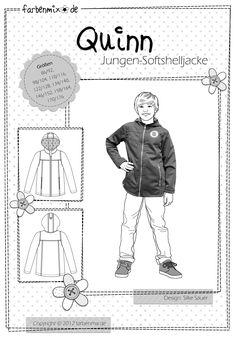 Mehrgrößenschnittmuster, Größen: 86/92, 98/104, 110/116, 122/128, 134/140, 146/152, 158/164, 170/176 Softshell Jackenschnittmuster für Kids und Teens Softshell schützt gegen Regen und Wind , ist unempfindlich und leicht. Jacken aus...