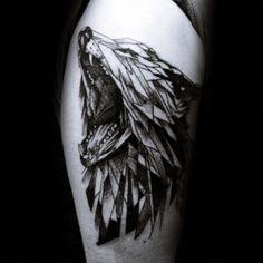 99 Best Geometric Wolf Tattoo Designs for Men -, 51 Elegant Wolf Tattoos Shoulder, 25 Amazing Geometric & Dotwork Wolf Tattoos Tattooblend, Tattoo, 90 Geometric Wolf Tattoo Designs for Men Manly Ink Ideas. Wolf Tattoos Men, Tattoos Arm Mann, Tattoos Skull, Arm Tattoos For Guys, Trendy Tattoos, Animal Tattoos, Leg Tattoos, Girl Tattoos, Sleeve Tattoos