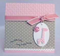 Ideas Baby Cards Ideas Color Combinations For 2019 Baby Girl Cards, New Baby Cards, Cricut Cards, Stampin Up Cards, Baby Shower Cards, Card Tags, Card Kit, Baby Kind, Kids Cards