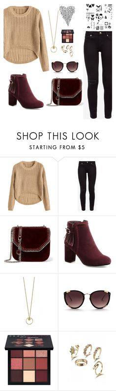 """""""style"""" by aminiona ❤ liked on Polyvore featuring Ted Baker, STELLA McCARTNEY, Rebecca Taylor and Huda Beauty"""