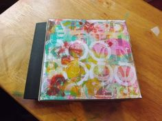 I made a paper bag book, covering the bags with 6×6 Gelli prints – click the image to see much more in the post! - ScrappyStickyInkyMess