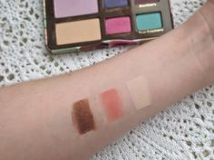 Blossom in Blush - Too Faced Sugar Pop palette swatch (Rock Candy, Macaron, Malted Milk Ball)