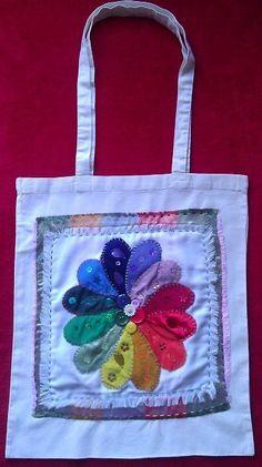 Long Handle Tote Bag - Colour Wheel Flower £20.00