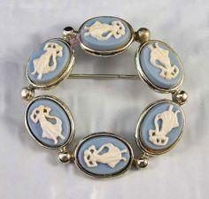 Jasperware circle pin